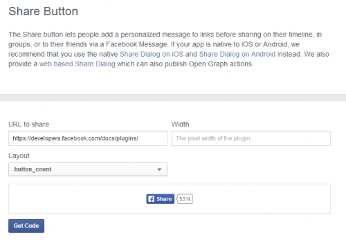 Facebook - Custom icon for share button | Brian Prom Blog