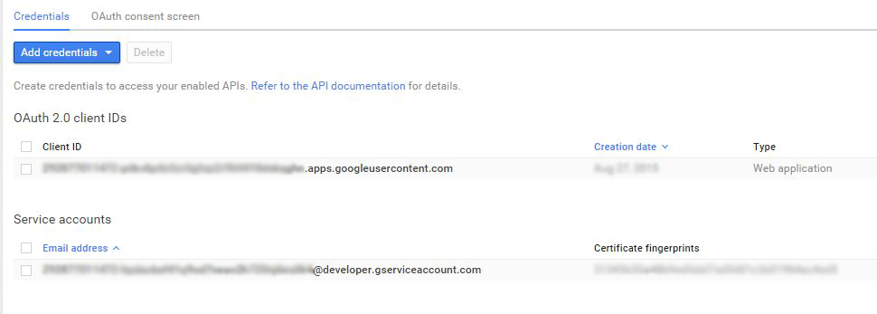 Google API - Access Google Search Analytics from Google Search