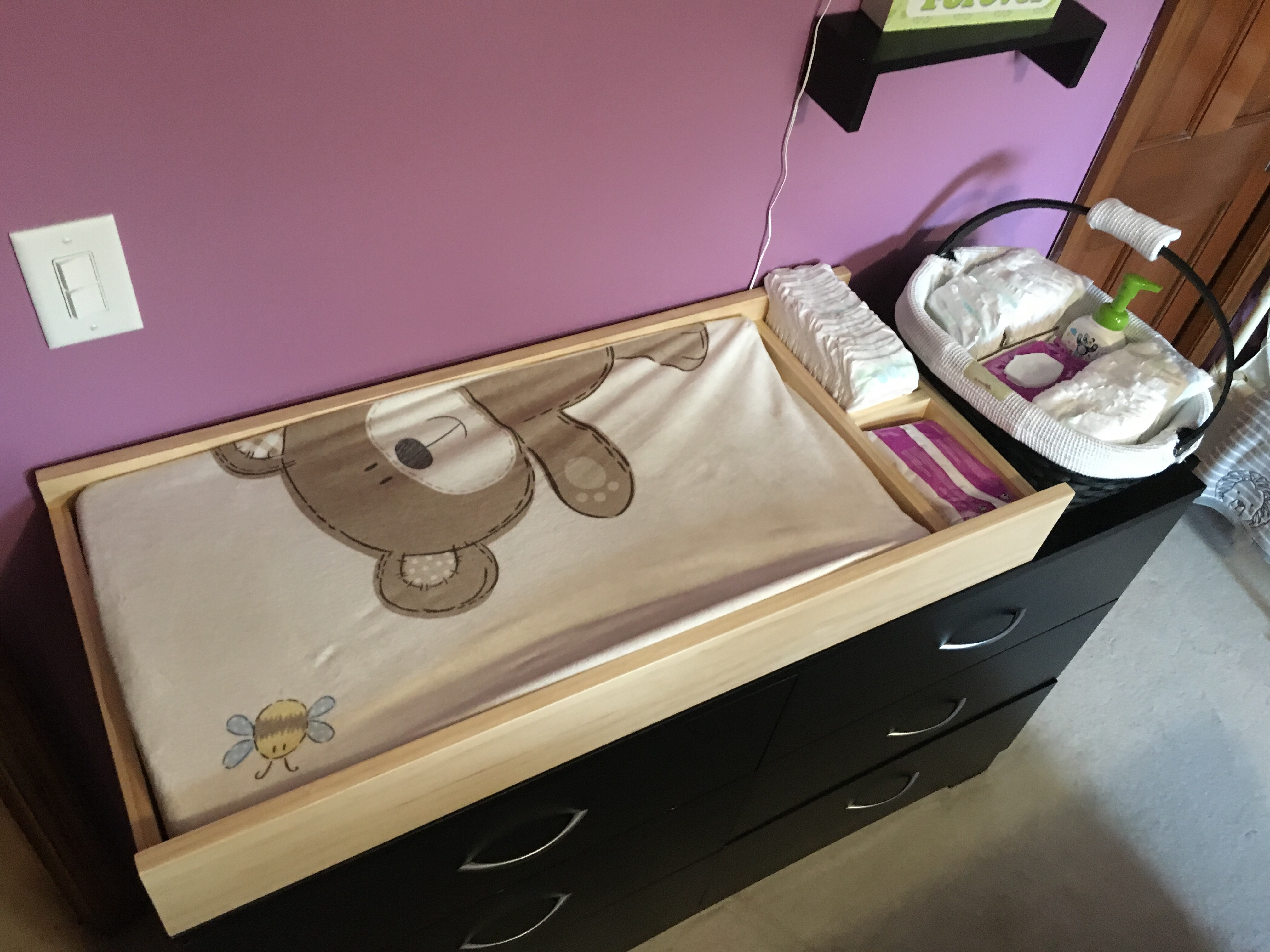 Diy Baby Changing Table Dresser Mounted Brian Prom Blog